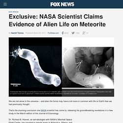 Exclusive: NASA Scientist Claims Evidence of Alien Life on Meteorite - FoxNews.com