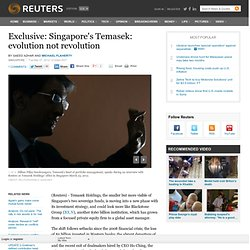 Exclusive: Singapore's Temasek: evolution not revolution