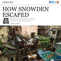 Exclusive: How Edward Snowden Escaped