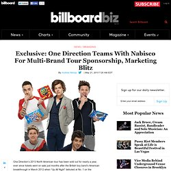 Exclusive: One Direction Teams With Nabisco For Multi-Brand Tour Sponsorship, Marketing Blitz