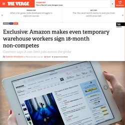 Exclusive: Amazon makes even temporary warehouse workers sign 18-month non-competes