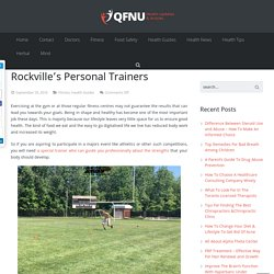 Exclusive Fitness Training with Rockville's Personal Trainers