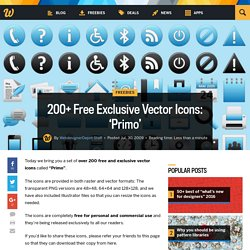 200+ Free Exclusive Vector Icons: 'Primo'