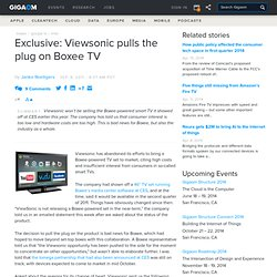 Exclusive: Viewsonic pulls the plug on Boxee TV — Online Video News
