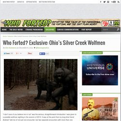 Who Forted? Exclusive: Ohio's Silver Creek Wolfmen
