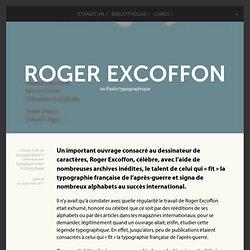 Roger Excoffon - un Pastis typographique