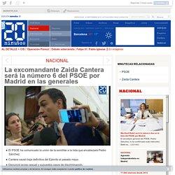 La excomandante Zaida Cantera será la número 6 del PSOE por Madrid en las generales