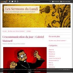 L'excommunication du jour : Gabriel Matzneff - Les Sermons du Lundi