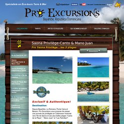 Excursion Saona-Canto de la Playa et Mano Juan à Punta Cana, tour en catamaran motorisé