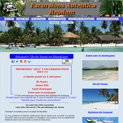 Autentica RepDom Excursions République Dominicaine: l'ile de Saona.