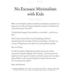 No Excuses: Minimalism with Kids
