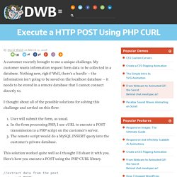 Execute a HTTP POST Using PHP CURL
