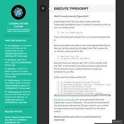 Execute Typescript