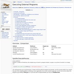 Executing External Programs