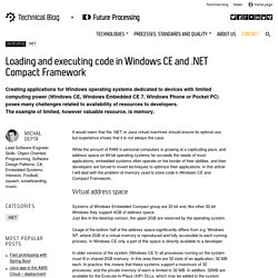 Loading and executing code in Windows CE and .NET Compact Framework