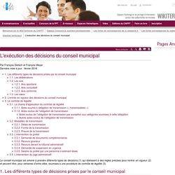 L'exécution des décisions du conseil municipal (vitrine.L'exécution des décisions du conseil municipal) - CNFPT