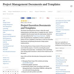 Project Management Documents and Templates