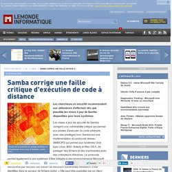 Samba corrige une faille critique d'exécution de code à distance