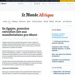 En Egypte, première exécution liée aux manifestations pro-Morsi