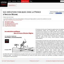 Les exécutions publiques dans la France d'Ancien Régime