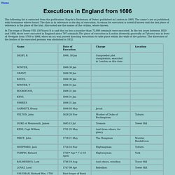 Executions in England from 1606