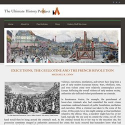 Executions, the Guillotine and the French Revolution - The Ultimate History Project