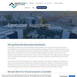 Hiring Executive Assistants