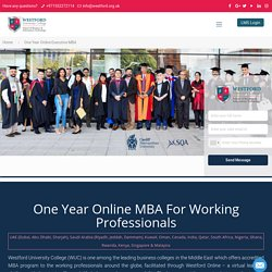 1 Year Executive MBA (Cardiff Met Advance Entry)