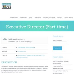 Executive Director (Part-time) Foundation Jobs