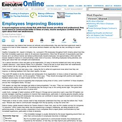 Human Resource Executive Online | Employees Improving Bosses