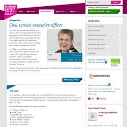 Civil service executive officer Job Information