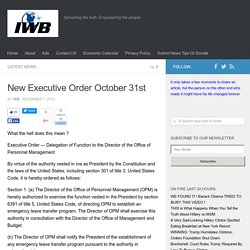 New Executive Order October 31st – InvestmentWatch