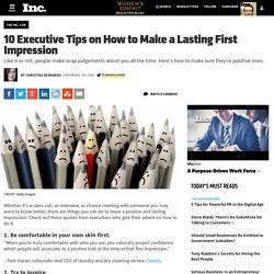 10 Executive Tips on How to Make a Lasting First Impression