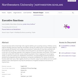 Executive functions — Northwestern Scholars