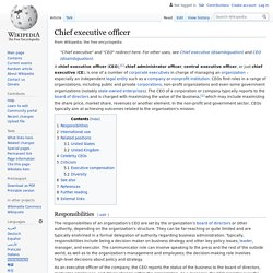 Chief executive officer - Wikipedia