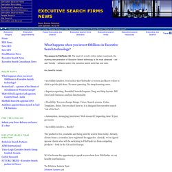 Executive Search Firms News