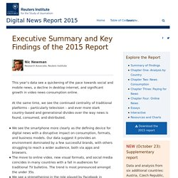 Executive Summary - Reuters Digital News Report 2015