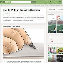 How to Write an Executive Summary: 18 Steps
