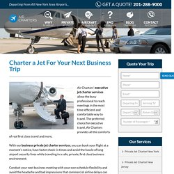 Private Jet Charter Services in New Jersey - Air Charters Inc