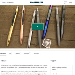 Retro-Click Executive Pen: Titanium, Zirconium and Copper by Jack Roman