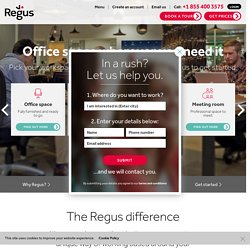 Regus | Office Space, Virtual Offices & Meeting Rooms to Rent