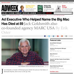 Ad Executive Who Helped Name the Big Mac Has Died at 89