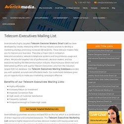 Telecom Executives Mailing List