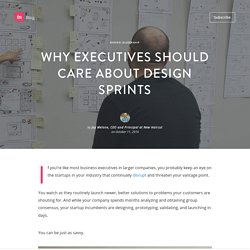 Why executives should care about design sprints