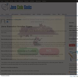 Java Executor Service Types