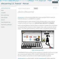 eXeLearning 2.5. Tutorial - Manual