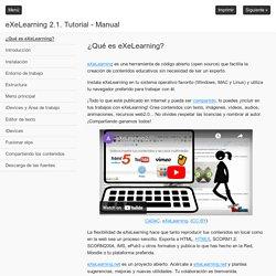 eXeLearning 2.1. Tutorial - Manual