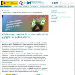 eXeLearning, tu editor de recursos educativos gratuito y de código abierto