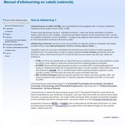 Manual d'eXelearning en català (valencià).