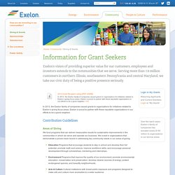 Exelon Corporation: Giving & Grants
